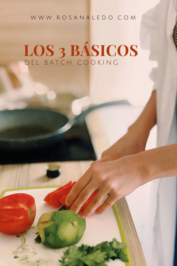 basicos de batch cooking rosana ledo