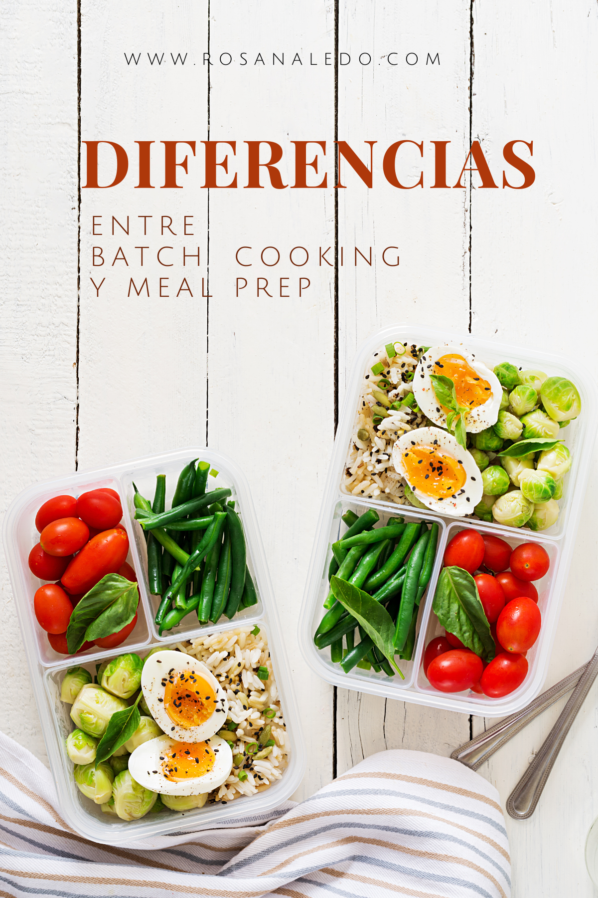 diferencias entre meal prep y batch cooking rosana ledo